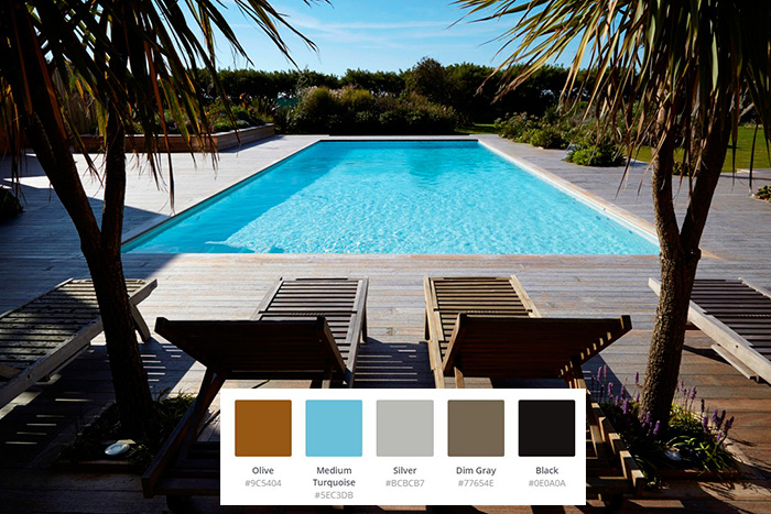 Backyard Swimming Pool Color Scheme Ideas